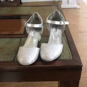 Girls Michael Kors silver dress shoes